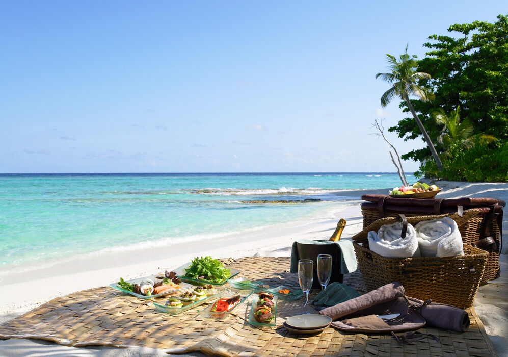 Beach Picnic at Soneva Kiri