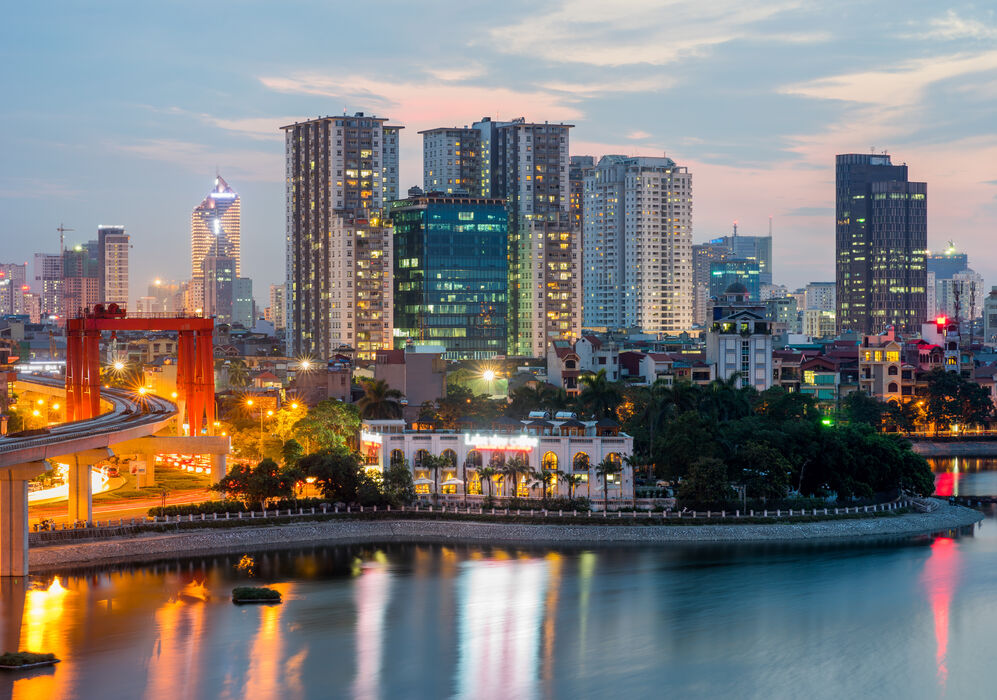 Cityscape in Hanoi