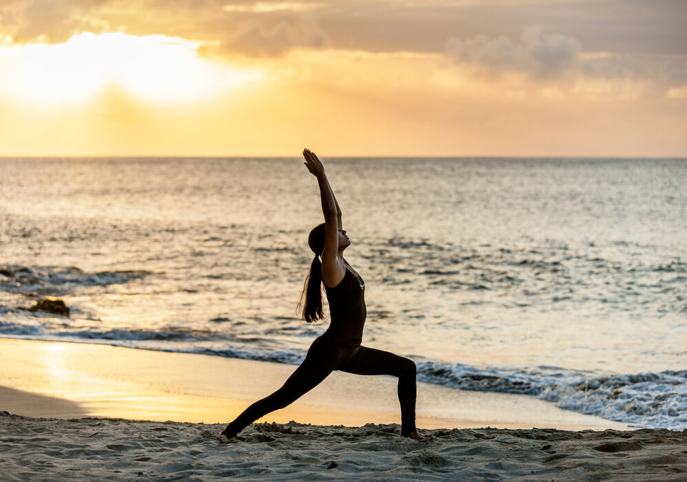 Beach Yoga at BodyHoliday