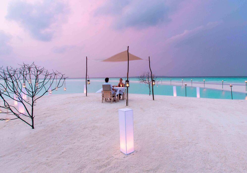 Beach Dining at Milaidhoo Island Maldives