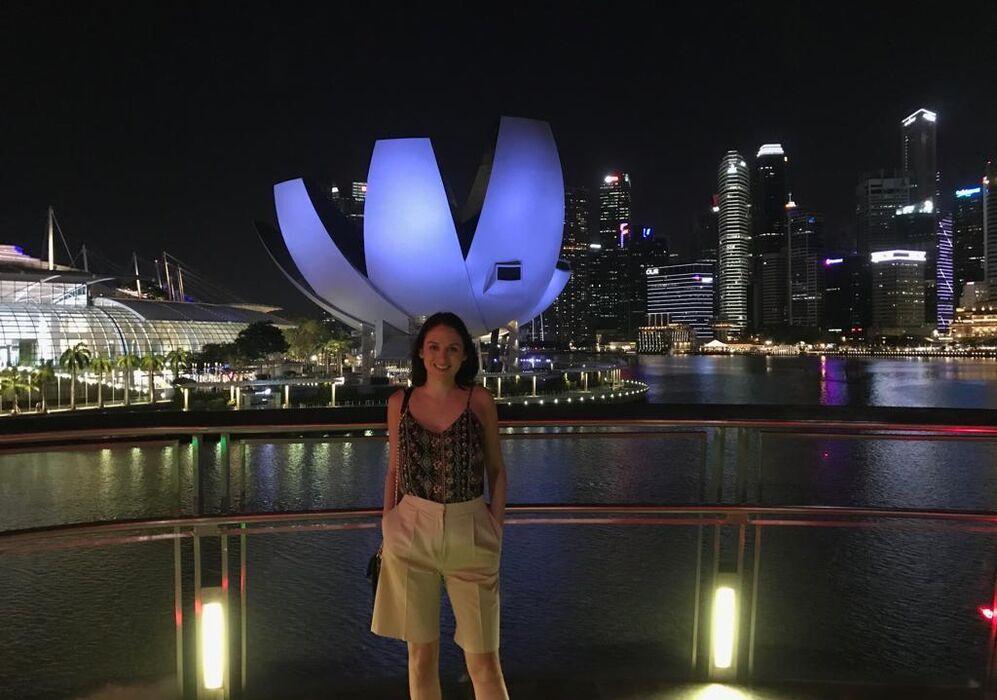 Evening in Marina Bay