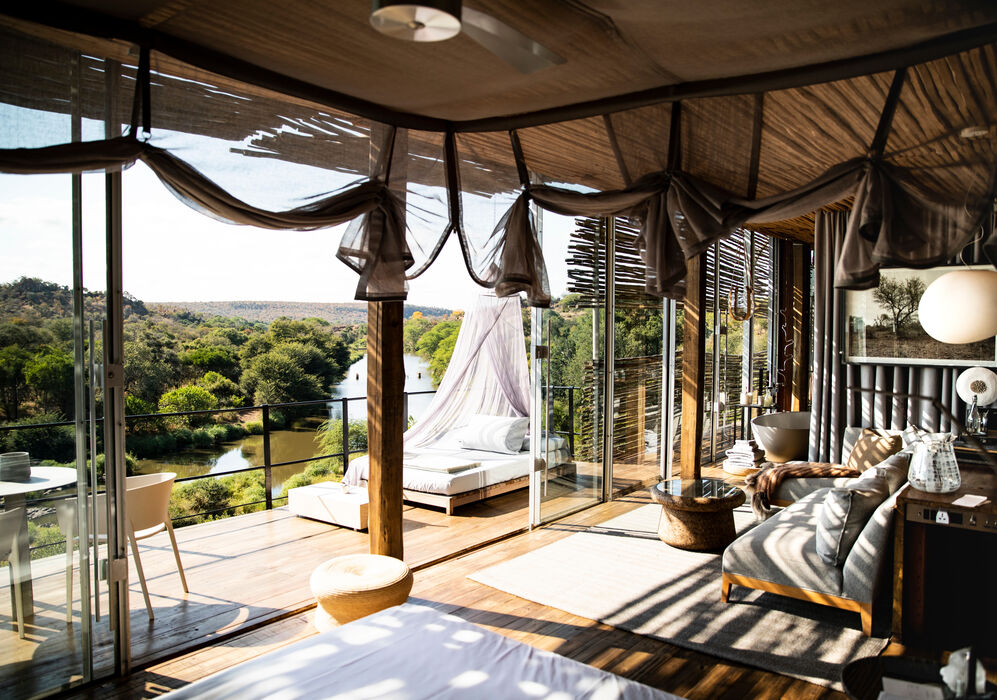 The gorgeous suites at Singita Lebombo Lodge