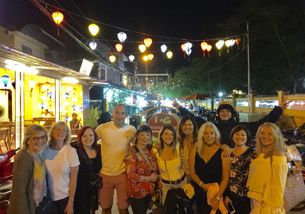 Group at the night markets
