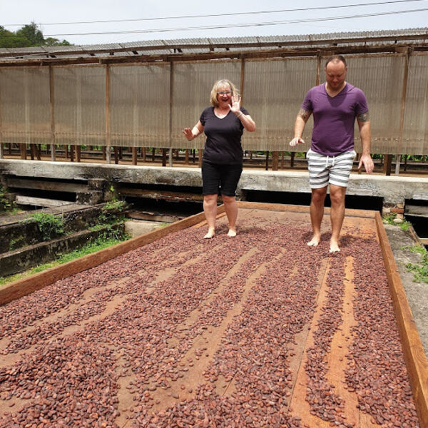 Chocolate making experience at Belmont Estate