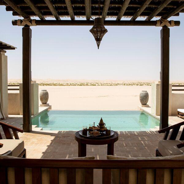 Villa Terrace at Jumeirah Al Wathba Desert Resort & Spa