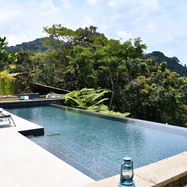 The gorgeous swimming pool at One&Only Nyungwe House