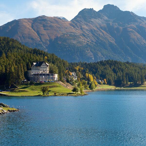 St Moritz Lake in Summertime