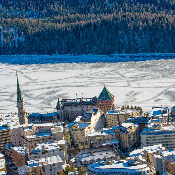 St Moritz Lake in Winter