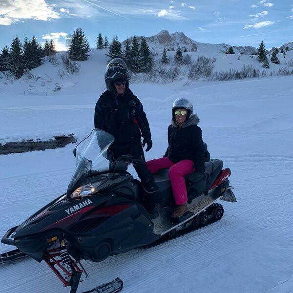 Snowmobiling fun