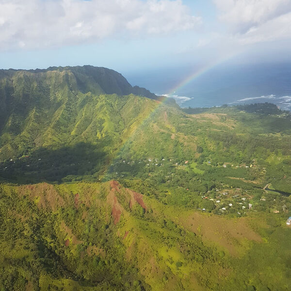 Rainbow view from the helicopter