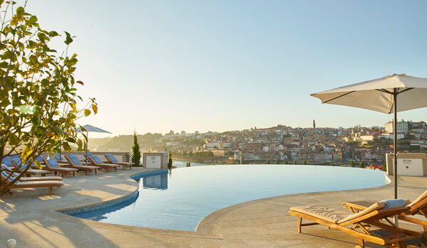 Outdoor Infinity Pool With Views Over The City