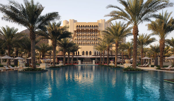 Al Bustan Palace Exterior and Infinity Pool