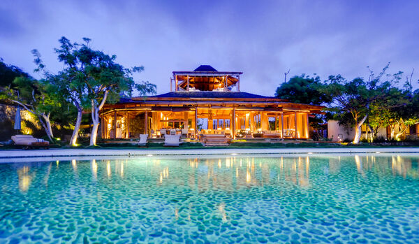 Exterior View Of Villa From Pool