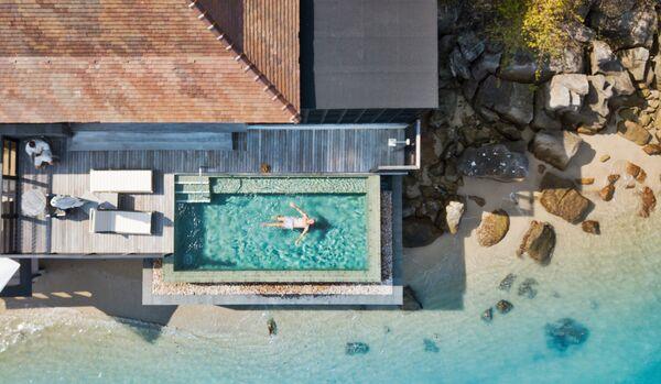 Ocean Front Villa Aerial View