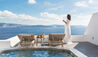 Andronis Luxury Suites : Exceptional Suite - Loungers & View