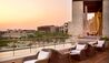The Romanos, a Luxury Collection Resort, Costa Navarino : Anax Lounge - Terrace at sunset
