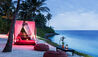 One&Only Reethi Rah, Maldives : Fanditha Restaurant Sunset Bar Beach Cabanas