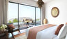 Anantara Al Jabal Al Akhdar Resort : Master Bedroom With Views In Cliff Pool Villa