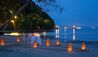 Gaya Island Resort : Private Beach Dining