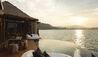 Song Saa Private Island : Private Deck and Infinity Pool at Sunset