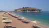 Beach on Sveti Stefan Island