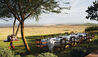 Singita Sasakwa Lodge : Dining On The Lawn With A View Of The Bush