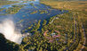 The Royal Livingstone Victoria Falls Zambia Hotel by Anantara : Aerial View of Victoria Falls