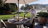 Huka Lodge : Outdoor Dining On The Main Terrace