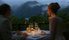 Sanctuary Lodge, A Belmond Hotel, Machu Picchu : Romantic Candle-lit Dinner Overlooking the Mountains
