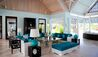 Lazy Lizard  Estate House at  Jumby Bay Island : Lounge Area