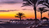 Constantinou Bros Asimina Suites Hotel : Beach Cabanas at Sunset