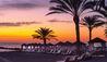 Beach Cabanas at Sunset