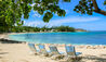 Half Moon : Sunset Beach With Loungers