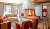 Saint Hubertus Resort : Deluxe Room Fire Place