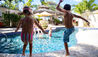 Saint Peter's Bay : Kids Jumping Into Pool