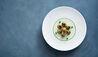COMO Castello Del Nero : Angolotti Filled With Chianina Beef, Pea Cream Soup And Morels With Herbs