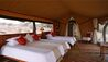 Elewana Lewa Safari Camp : Tent Interior Triple Bedroom