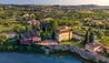 Villa La Massa : Aerial view at sunset