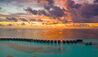 OZEN at Maadhoo : Water Villa Jetty at sunset