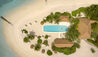 COMO Cocoa Island : Poolside Aerial