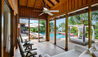 COMO Parrot Cay : Lucky House Guest Bedroom Verandha Pool View