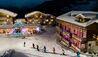 W Verbier : Skiing at night