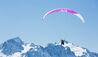 W Verbier :  Winter paragliding