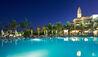 Princesa Yaiza Suite Hotel Resort : Sea Water Pool At Night With Minaret
